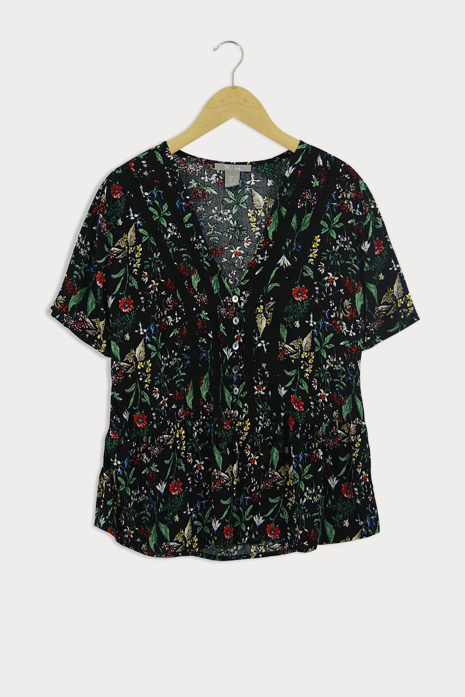 Lady Blouse Floral (Cotton) LBF-4008